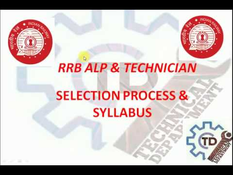 RRB ALP & TECHNICIAN SELECTION PROCESS AND SYLLABUS 2018
