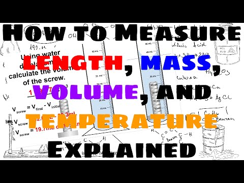 How to Take Measurements of Length, Mass, Volume, and Temperature