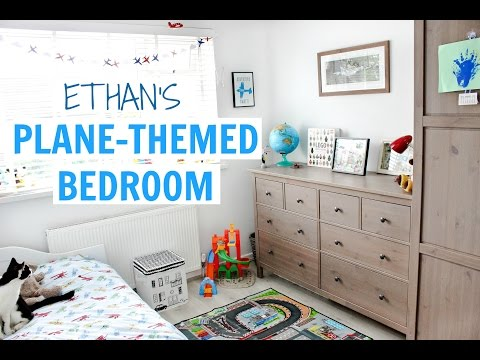 3 YEAR OLD'S PLANE THEMED BEDROOM - ETHAN'S ROOM TOUR | Alex Gladwin