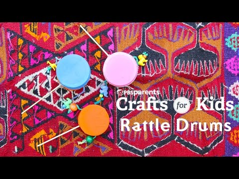 DIY Toy & Instrument: Rattle Drums  | PBS Parents | Crafts for Kids