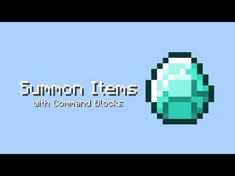 Summon Items with Command Blocks - MCPE/Win10