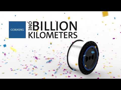 Corning Reaches 1 Billion Kilometers of Optical Fiber