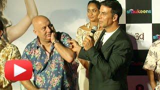 OMG!! Akshay Kumar Slaps Anupam Kher | The Shaukeens Trailer Launch