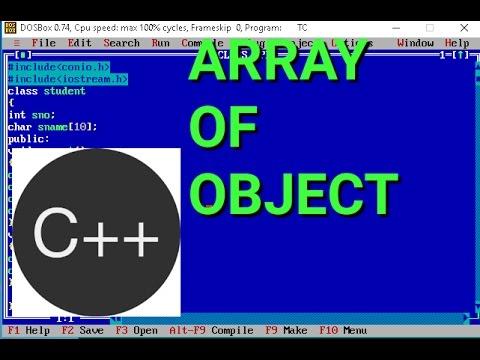 ARRAY OF OBJECT IN C++||C++ TUTORIALS