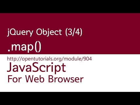 JavaScript - jQuery Object (3/4) : .map()