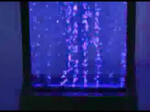 Bubble Water Wall with Stainless Steel Frame, LED Lights and Remote Control