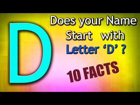 10 Facts about the People whose name starts with Letter 'D' | Personality Traits