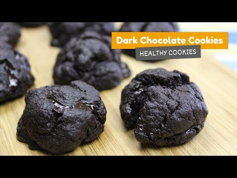 Flourless Dark Chocolate Cookies • Healthy cookies #1 🍪