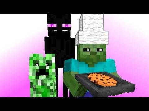Monster School: Kids Mobs - Baking (Minecraft Animation)