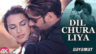 Dil Chura Liya - 4K Video | Ajay Devgan & Neha Dhupia | Qayamat | 90