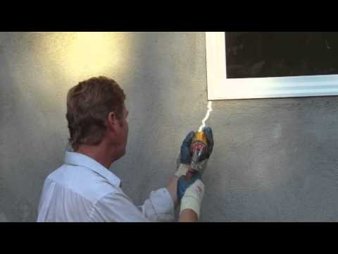 Caulking hairline cracks in new stucco