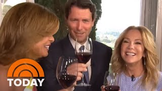 Italian Wine Connoisseur Salvatore Ferragamo On His Top Vinos & Pops A Bottle With A Knife | TODAY
