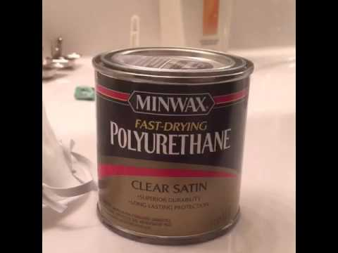 Bathroom cabinet staining