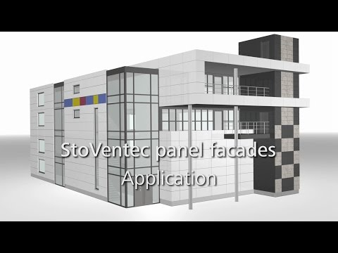 StoVentec curtain walls e.g. glass panels: how to install a rainscreen cladding system