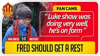 SOLSKJÆR DESERVES 2ND CHANCE! Manchester United 3-0 Watford Fancam