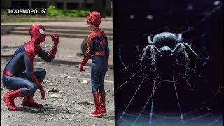TRES NIÑOS se DEJARON PICAR por una VIUDA NEGRA para ser como SPIDER-MAN