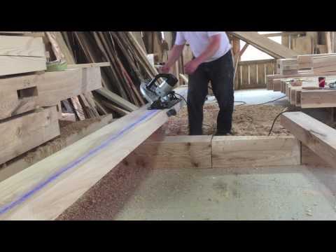 Cutting 45 degree angle on ridge beam