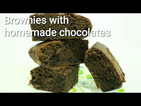 2 in 1 Chocolate brownies with homemade chocolates - Brownies recipe - Chocolate brownies - Homemade