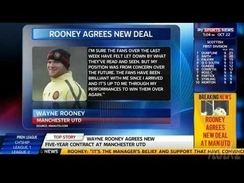 Wayne Rooney Staying at Manchester United ( Signs 5 Year Contract ) - 22 October 2010
