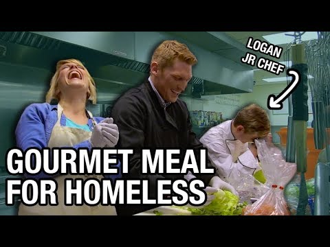 Gourmet Meal At A Homeless Shelter