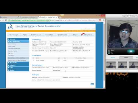 How to check refund status of cancelled ticket