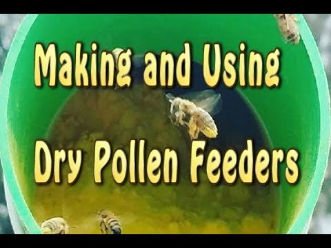 Making & Using Dry Pollen Sub Feeders / Pollen Substitute Feeder For Bees