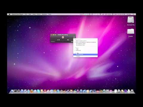 QuickTime in Mac OSX Snow Leopard