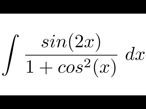 Integral of sin(2x)/(1+cos^2(x)) (substitution)