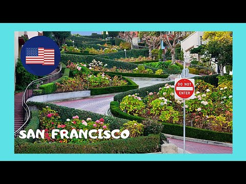 Driving on Lombard (WORLD'S CROOKEDEST) STREET, SAN FRANCISCO (USA)