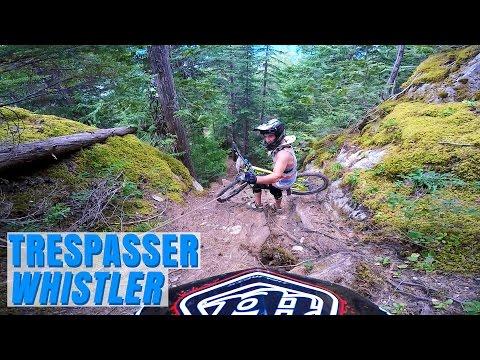 My GoPro - THE GNARLIEST MOUNTAIN BIKING TRAIL EVER!! Trespasser, Whistler, BC, Canada