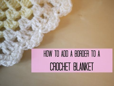 CROCHET: How to add a crochet border (scalloped/shell edging) | Bella Coco