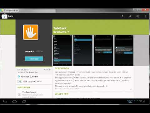 Video of Google Play Store on WindowsAndroid