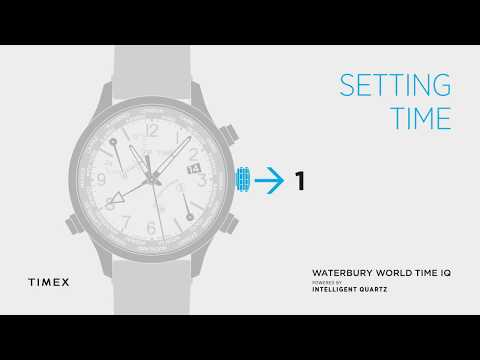 TIMEX WORLD TIME - SETTING TIME - HOW TO VIDEO