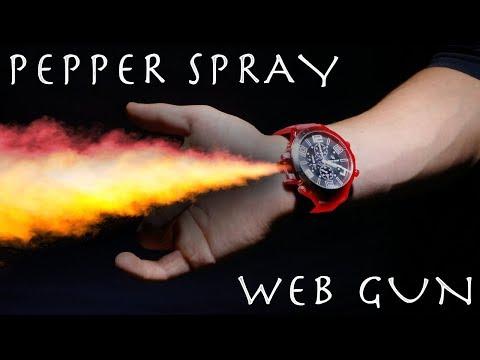 Make a PEPPER SPRAY Web Gun Wrist Watch! - Cool Spy Gadget + New Studio Update