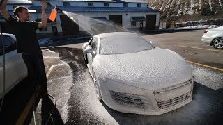 WRAPPING MY AUDI R8!!