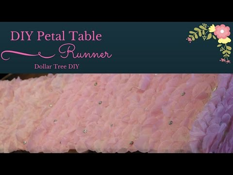 Wedding DIY| Petal Table Runner