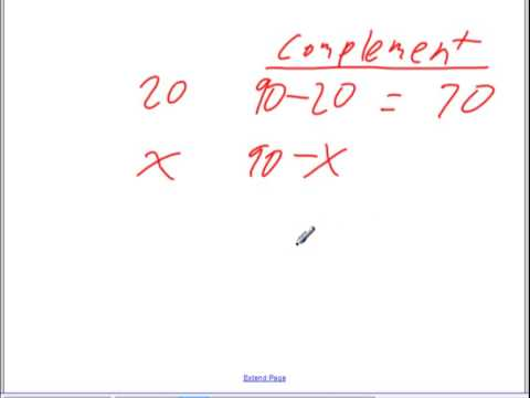 Word problems complementary and supplementary angles