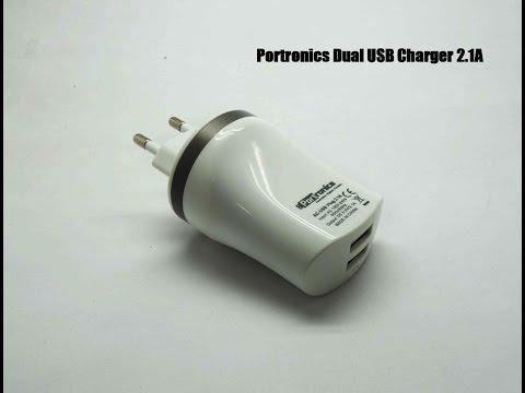 Portronics Dual USB charger 2.1A