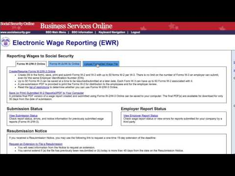 W2 Electronic Submit To Social Security From Lizzy