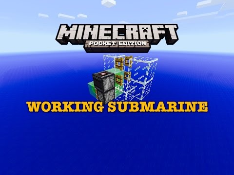 WORKING SUBMARINE IN MINECRAFT PE (Redstone Tutorial) IN 0.15.0    Minecraft PE   (MCPE)