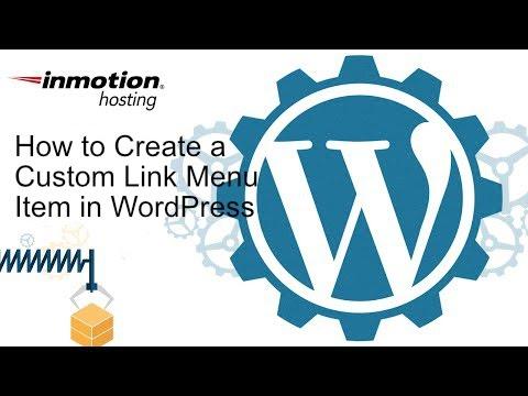 How to Create a Custom Menu Link Item in WordPress