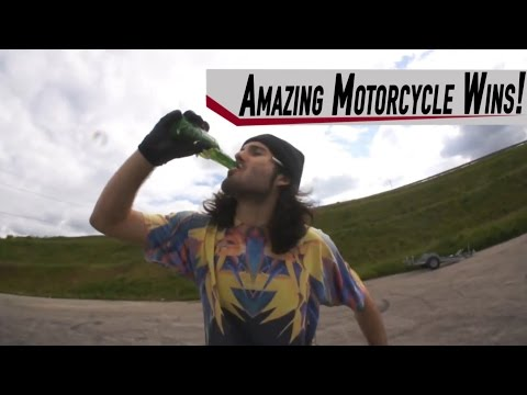 Amazing Motorcycle Wins Caught On Camera Comp