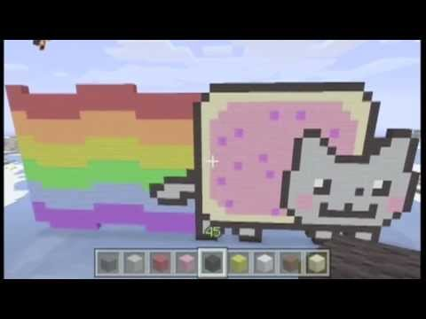 How To Make Nyan Cat in Minecraft + Master Roshi!