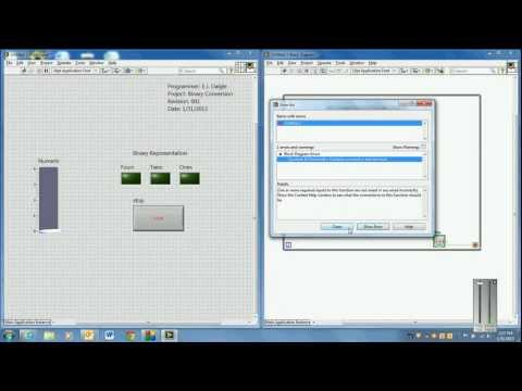 LabVIEW Binary Converter Demo (ELTT1240)