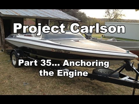 Project Carlson CVX-18- Mounting the engine and other odds and ends