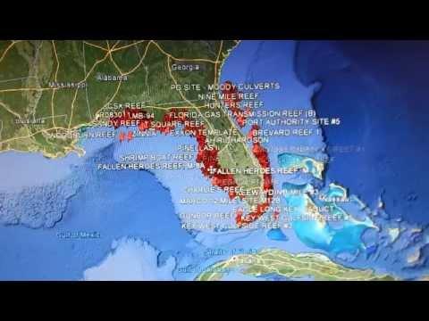 Google Earth Fishing - Florida Reefs