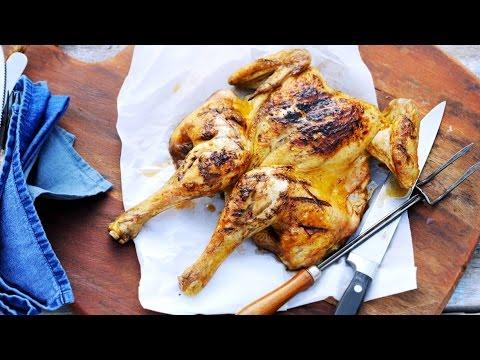 Lemon-pepper brined butterflied chicken - Savory
