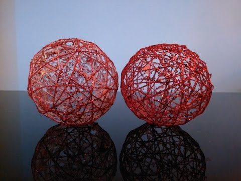 DIY - How to Make String/Yarn Ball Ornaments (Decorations)