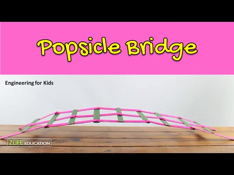 Popsicle Bridge - Engineering Activity for Kids