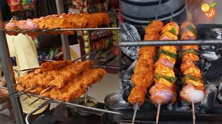 Street food india - Soya Chaap/Paneer Tikka - Indian Street Food - Street Food 2016